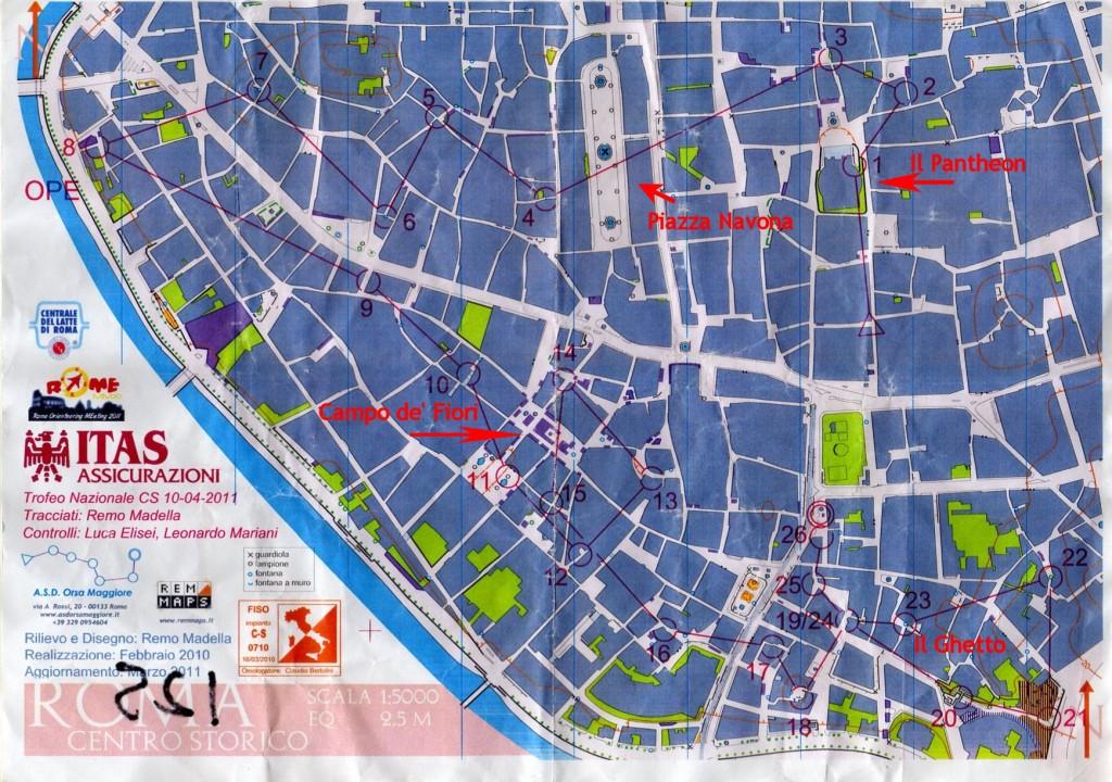 La mappa di Roma Centro